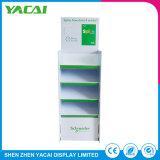 Planta de papel reciclado Contador de exposiciones de la pantalla stand para tiendas Retail