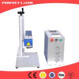 Máquina precisa elevada da marcação do laser da fibra feita em China