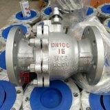 Kogelklep van het Koolstofstaal 150lb van Wcb De Van een flens voorzien 2PC