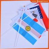 Bonne qualité 100g en polyester tricoté en agitant la main d'un drapeau