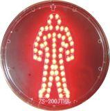 Módulo rojo lleno de intensidad alta del semáforo de la bola que contellea LED con la lente clara