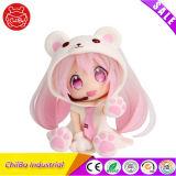생일 선물로 분홍색 귀여운 곰 만화 숫자