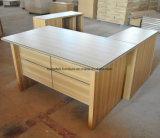 Mesa de escritório de madeira com a tabela móvel do escritório da mobília de escritório das gavetas