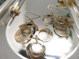 Form-Schmucksache-hängender Fisch-Haken-einfacher Art-Silber-Farben-Ohrring