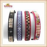 Collar del animal doméstico del perro de la PU/harness coloridos del perro (KC0040)