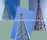 Free-Stand решетчатые стальные башни электросвязи трехстороннего в корпусе Tower