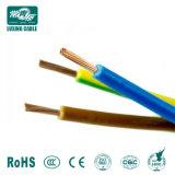 150mm recouvert de PVC de cuivre souple de la terre du câble de fil de terre vert/jaune