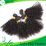 La qualité Brazillian de vente en gros de prolonge de cheveux humains desserrent bouclé