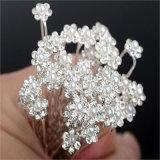 Da flor de cristal dos pinos de cabelo do casamento da pérola da forma cabelo nupcial dos pinos