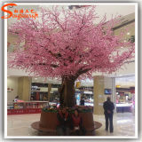 Shopping Plaza artificial en interiores decorativos Árbol de cerezos en flor