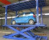 3m de altura de estacionamento automóvel tesoura hidráulica de elevação da plataforma