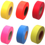 Oranje pvc Flagging Tape met Fluorescent en Embossing