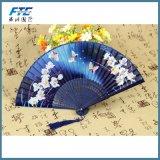 Le bambou d'OEM nervure le ventilateur pliable de main de configuration de fleurs de cerise