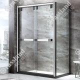 G10f12L comerciano la doccia all'ingrosso personalizzata della stanza da bagno dell'hotel di vetro Tempered di prezzi competitivi