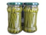 Fagiolo verde fresco inscatolato in vaso di vetro 212ml