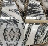 Onyx Carreaux et dalles de marbre blanc avec veine noire