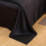 サテンの絹の寝具の敷布の羽毛布団カバー