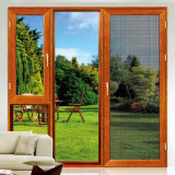 Верхней Части фиксированных деревянной цветной UPVC дверная рама перемещена Окно с двойным стеклом