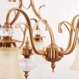 Illuminazione di vetro graziosa D-6108/5 del paralume della tazza della lampada a cristallo Pendant del lampadario a bracci