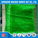 緑の足場陰のNet/HDPEによって編まれる構築の安全策