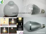 E27 9W lâmpada LED do sensor de infravermelho com 85-265VAC