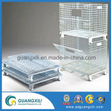 Armazenamento flexível dobrável de metal para o armazenamento de materiais