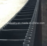 De golfdie Transportband van de Zijwand Op Industrie Metually wordt gebruikt