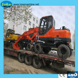 6 Ton de la presión hidráulica excavadora Excavadora de Ruedas resistentes para LC80W