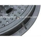 Tampa de Inspeção redonda de poliéster B125/C 450mm com Trava de Rosca