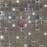 Cristal con incrustaciones de acero inoxidable Mosaico (CFM1011)