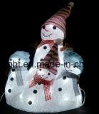 크리스마스는 LED 끈 빛 훈장을 장식한다