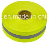 En20471の黄色いReflective Material Warning Fabric Tape