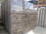 Golden Beach Marble Slab Dalle Marbre Marron Poli