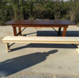 Muebles plegables del vector de cena del cortijo del jardín al aire libre natural del color