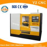 CNC 기우는 침대 선반을 가공하는 수평한 금속