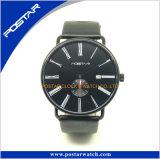 De Bovenkant van Swatchful verkoopt Fabriek verkoopt het Directe Populaire Horloge van het Kwarts met de Echte Band van het Leer