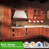 Gabinete de cozinha em madeira maciça de bétula de bordo