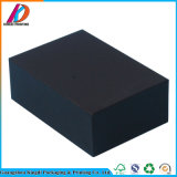 Caixa de presente de papel preta luxuosa de Matt que empacota com a inserção da espuma de EVA