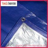 Encerado tecido azul durável da tela do polietileno do Virgin