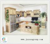 国様式の高品質の白い純木の食器棚
