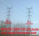 Doppia torretta della trasmissione di tangente del circuito di Megatro 220kv 2D3 Szk