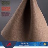 Couro sintético recicl teste padrão do PVC de Lichee da mobília do preço do competidor