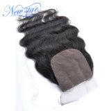 Brasiliano dell'onda del corpo 3 parti dei capelli umani di chiusura della seta