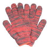 Смешайте цветной безопасность работы вязаные рукавицы/ Koton Poly хлопка Guwantes