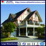 Chalets de la casa prefabricada del marco de acero de la luz del diseño moderno