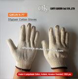 Связанные 50g/Pair работая перчатки хлопка абажура безопасности K-77