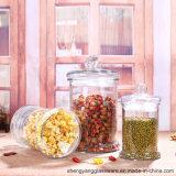De Rang van het voedsel 200ml-2000ml ontruimt de Kruik van de Thee van het Glas voor Opslag met het Deksel van het Glas