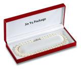 سوداء خلف لؤلؤة عقد بلاستيكيّة [هينجر] مجوهرات هبة يعبّئ صندوق