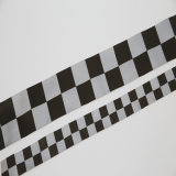Высокая видимость полиэстер Светоотражающая лента ткани предупреждения материала для обеспечения безопасности