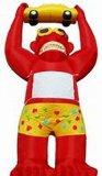 Pubblicità di modello della gorilla della gorilla rossa enorme gonfiabile del prodotto